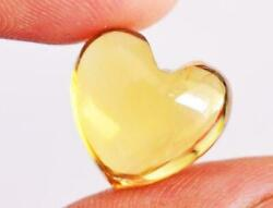 Natural Citrine Heart Shape Cabochon Loose Gemstone Size 7x7mm To 10x10mm