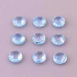 Natural Sky Blue Topaz Round Shape Briolette Cut Calibrated Size 11mm To 15mm