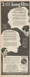 1920 Leo Feist New York Toronto Howard Johnson Songs Ching A Ling Record Ad