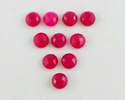 Wholesale Lot Rani Chalcedony Round Checker Cut Loose Gemstones 21mm To 25mm