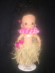 Htf 2002 The Doll Maker Precious Moments Doll Linda Rick Hawaii Doll With Stand
