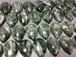 Natural Seraphinit Loose Gemstones Pear Cab 13x18mm To 16x32mm Aaa Quality Lot