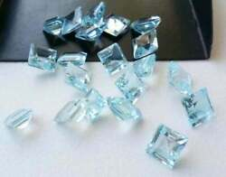Natural 7 Mm To 10 Mm Square Facted Cut Beauty Sky Blue Topaz Mines Aaa Quality