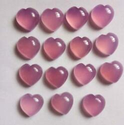 Natural Pink Chalcedony In Saline Sliced Heart Plain Shape Size 21 Mm To 25 Mm
