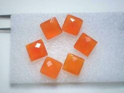 Wholesale Lot Natural Carnelian Square Checker Cut Loose Gemstones 21mm To 25mm