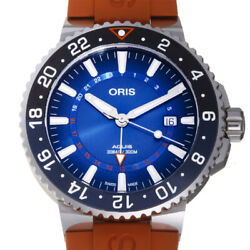 Free Shipping Pre-owned Oris Aquis Charis Fort Reef Gmt 01.798.7754.4185