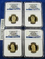 2011 S Ngc Pf70 Early Releases Presidential Dollar 4 Coin Set With Blue Label