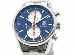 Free Shipping Pre-owned Tag Heuer Carrera 1887 Japan Limited Car211b Blue Dial