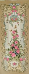 Tapestry Textile Picture Flowers Baroque Without Frame 26 13/16x65 3/8in Xxl