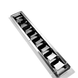 Isure Marine Boat Louver Vent 16-13/16 X 3 Stainless Steel 8 Slots Ventilation