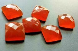 Wholesale Lot Natural Carnelian Square Rose Cut Loose Gemstones 21mm To 25mm