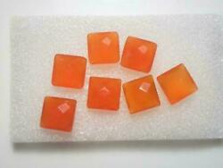 Wholesale Lot Natural Carnelian Square Checker Cut Loose Gemstones 16mm To 20mm