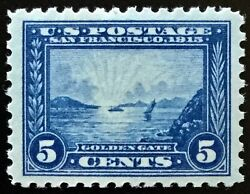 403 Mint Og Nh, Vf/xf 1913 5c Pan-pacific Large Margined And Sound