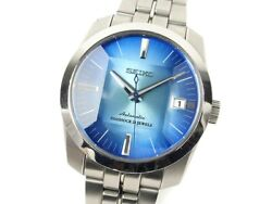 Seiko Mechanical Watch Menand039s Sarb001 Cut Glass Blue Dial Automatic Winding 839