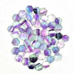 Natural Fluorite Hexagon Faceted Cut Loose Gemstone 16mm To 20mm Rainbow Color