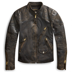 2200 Rrl Womenand039s Limited Edition Leather Jacket New