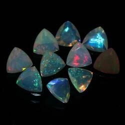 Natural Ethiopian Opal Trillion Faceted Cut Loose Gemstone Size 3mm Aaa Opal