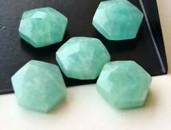 Natural Amazonite Hexagon Shape Rose Cut Loose Gemstone Size 16mm To 20mm