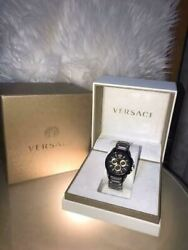 Versace M8c Swiss Made Chronograph Men's Analog Wristwatch Shipped From Japan