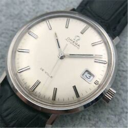 omega De Ville Tool107 Automatic Round Silver Dial Stainless Steel Adult Watch