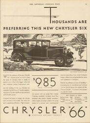 1929 Chrysler 66 Brougham Coupe Automobile Closed Motor Car Antique Vehicle Ad