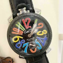 Gaga Milano Manuale 48mm 5015s Analogue Wristwatch For Men Shipped From Japan