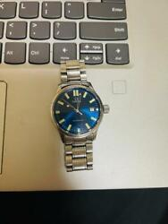 omega Automatic 36mm Blue Dial Silver Stainless Steel Adult Watch Japan Shipped