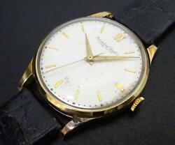 Scaffhausen K18yg Solid Gold Silver Dial Analogue Wristwatch For Men