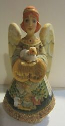 G. Debrekht Angel Of All Little Ones Hand Carved Wood Hand Painted