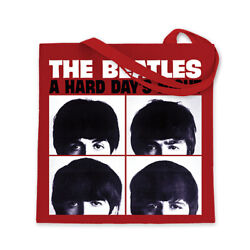 Beatles Collectible 2014 Bravado A Hard Dayand039s Night Album Red Canvas Tote Bag