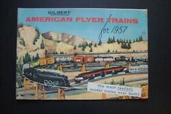 65= Gilbert American Flyer Trains For 1957, 47 Page 8 X 11 1/2 Train Catalog