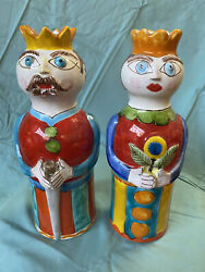 """Desimone Vietri King And Queen — Great Condition 10.5"""" Tall"""