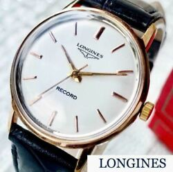Longines Manual Winding Antique 1950s Analog Wristwatch Shipped From Japan