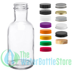 12 Oz Stout Reusable Clear Glass Water Bottle Drinking Small New Minimalist Best
