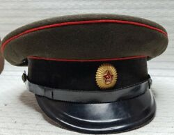 Vintage 1956 Soviet Russian Officerand039s Cap Hat Military Army Ussr-size 565