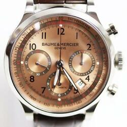 Baume And Mercier Geneve Capeland Chrono Moa10004 Stainless Steel Automatic Watch