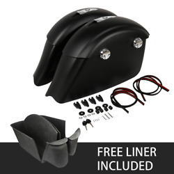 New Saddlebags Electronic Latch And Carpet Liner Fit For Indian Dark Horse Abs