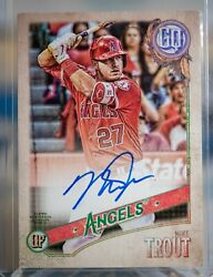 2018 Topps Gypsy Queen Mike Trout Auto Autograph Rare