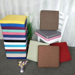 Thick Square Sponge Booster Chair Seat Pads Office Garden Patio Chair Cushions