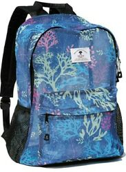 ESVAN Travel Backpack Beach Backpack NEW With Tags Blue Coral Sea $24.99