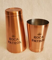 Roca Patron Copper Wrapped Metal Cocktail Shaker Brand New Rare