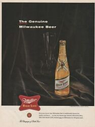 Miller High Life Champagne Of Bottle Beer Milwaukee Wi 1925 Print Ad