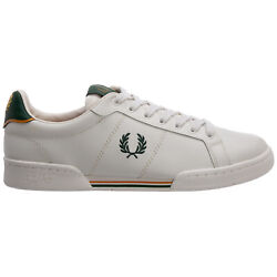 Fred Perry Sneakers Men B1252 Porcelain Leather Logo Detail Shoes Trainers