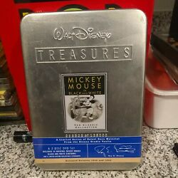 Walt Disney Treasures Mickey Mouse In Black And White 2-dvd 2002 Sealed