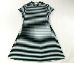 Free People Beach On The Line Turquoise Striped Mini Dress Womens XS $20.00