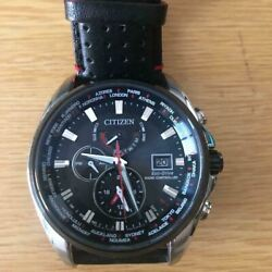 Citizen At9065-00e Solar Radio Analog Wrist Watch Shipped From Japan
