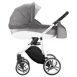 5901497185766 4in1 Stroller Bebetto Holland - White Frame W50 + Car Seat Pebble
