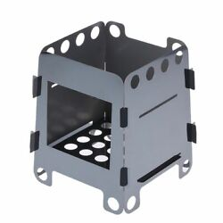 Portable Lightweight Folding Wood Stove Firewood Burning Survival Cooking