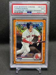 2020 Bowman Prospects Chrome Jarren Duran Orange Shimmer /25 Psa 9 Mint Red Sox