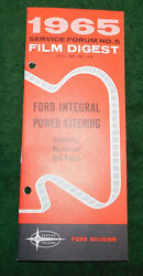 1965 Ford Nos Service Forum Film Digest No 5 And039power Steeringand039 Dealer Hand Book